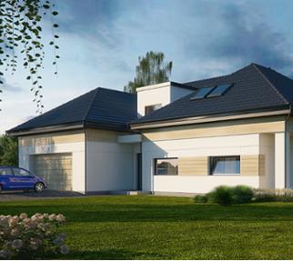 projekty nowoczesnych domów jednorodzinnych - Częstochowa